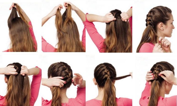 Красивые причёски на средние волосы косы фото поэтапно