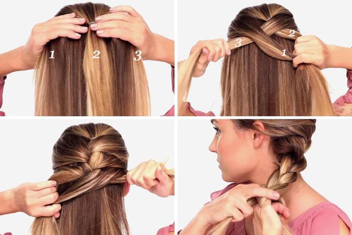 Как плести красивые косы: 6 вариантов разной сложности 77