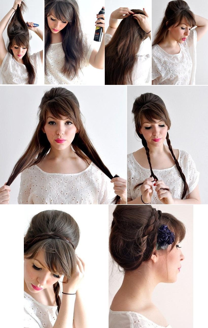 Как выбрать прическу на средние волосы с челкой 86