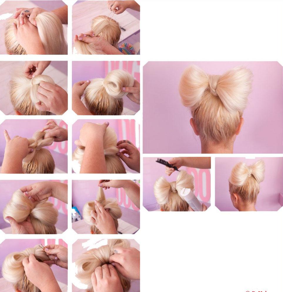 Как сделать бант из волос - пошаговая инструкция Как сделать бантик для волос поэтапно