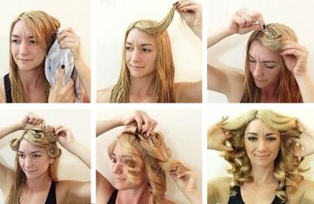 Как сделать легкую волну на волосах фото в домашних условиях