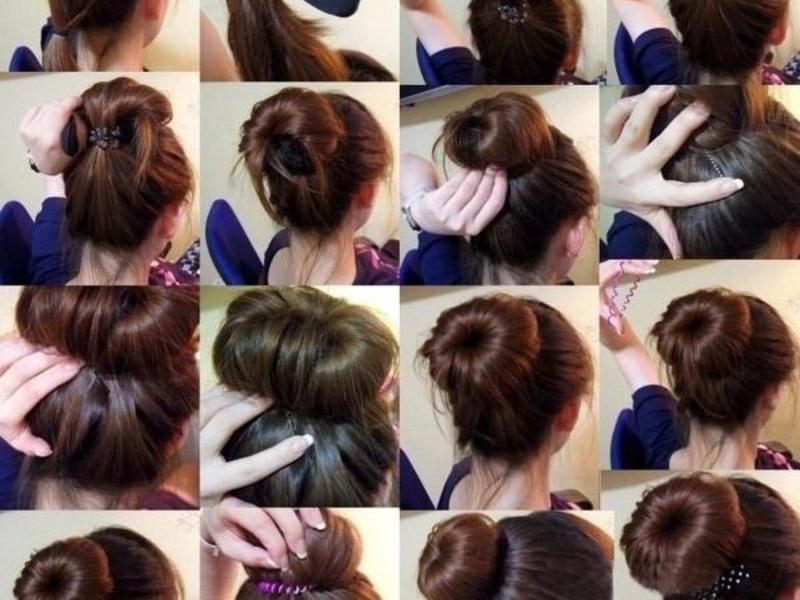 Прически на средние волосы с лесенкой своими руками 3