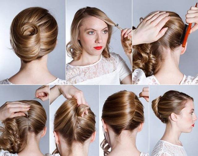 Прическа на средние редкие волосы своими руками пошаговая инструкция фото 48